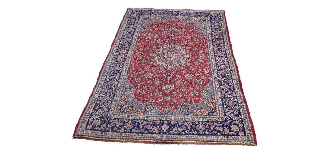 Hand Knotted Antique Persian Isphahan Rug