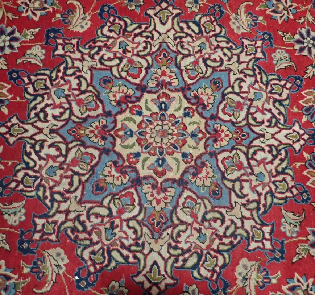Hand Knotted Antique Persian Isphahan Rug - 2