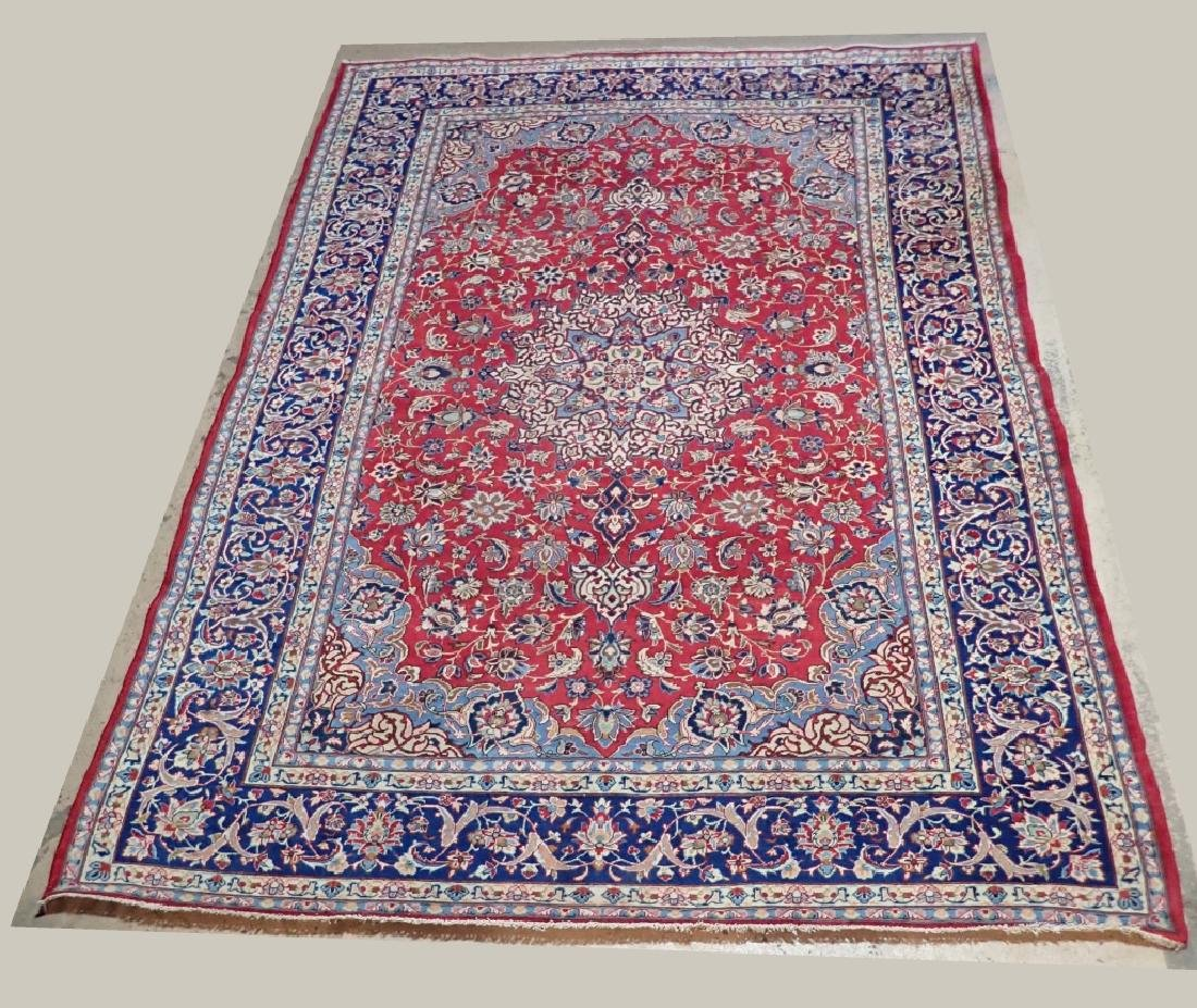 Hand Knotted Antique Persian Isphahan Rug - 3