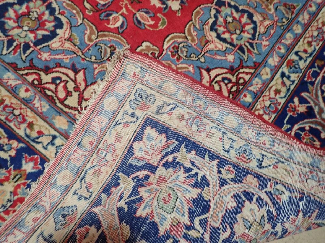 Hand Knotted Antique Persian Isphahan Rug - 4