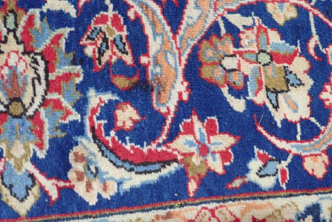 Hand Knotted Antique Persian Isphahan Rug - 6