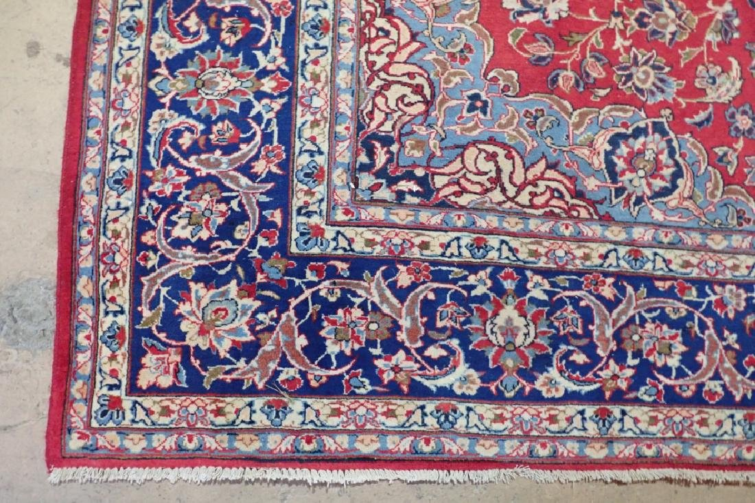 Hand Knotted Antique Persian Isphahan Rug - 8