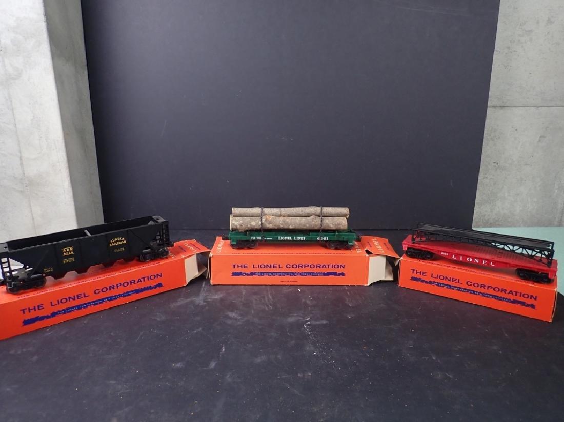 3 Lionel Freight Cars: No. 6361, No. 6636; No 6825