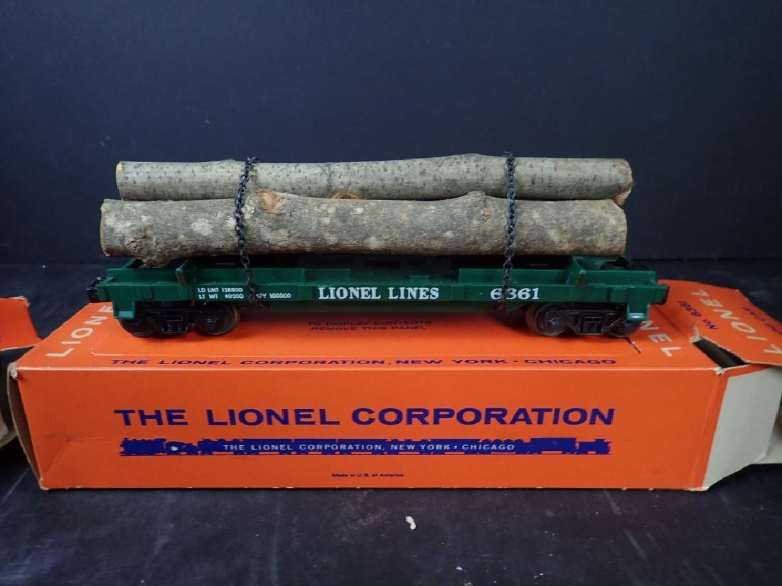 3 Lionel Freight Cars: No. 6361, No. 6636; No 6825 - 3