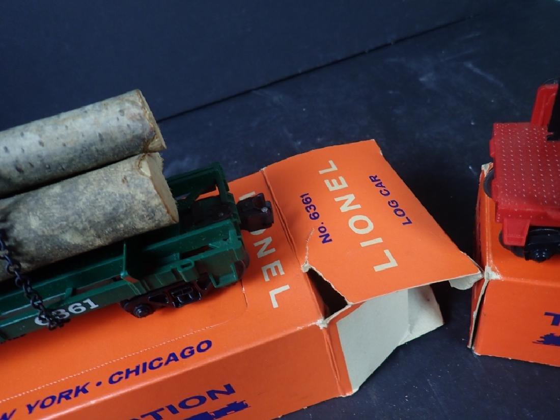 3 Lionel Freight Cars: No. 6361, No. 6636; No 6825 - 6