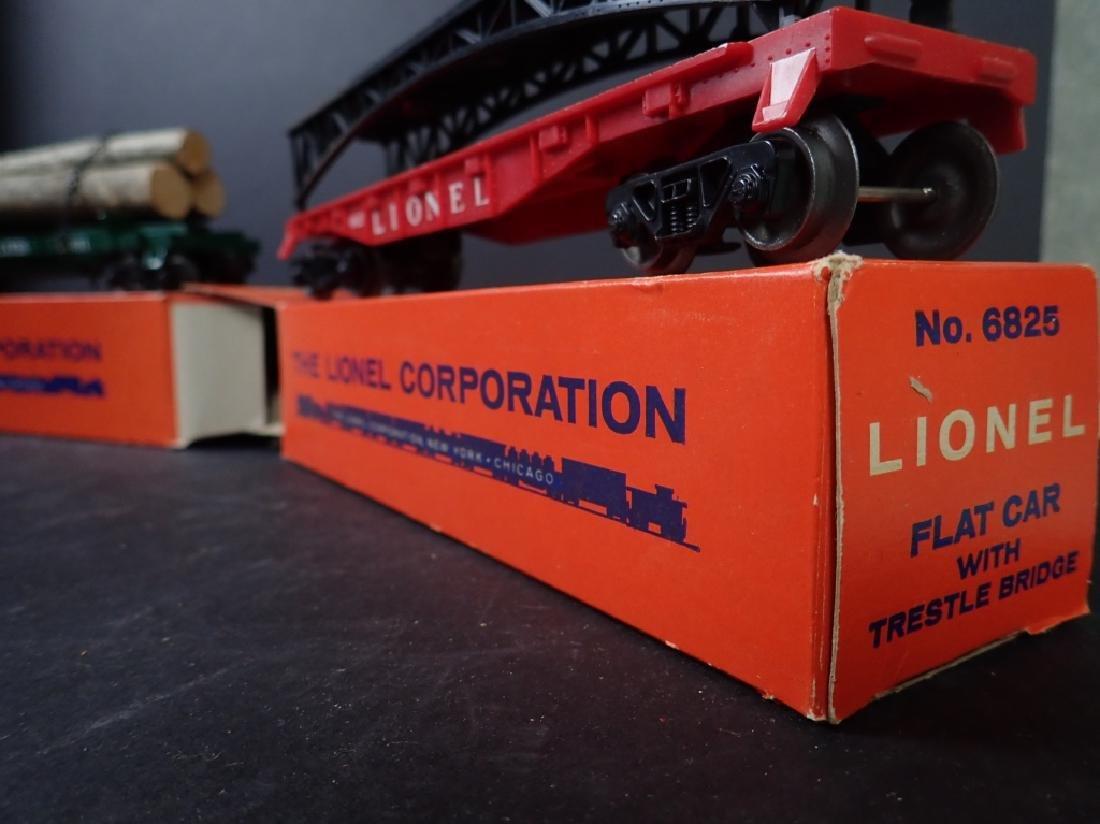 3 Lionel Freight Cars: No. 6361, No. 6636; No 6825 - 7