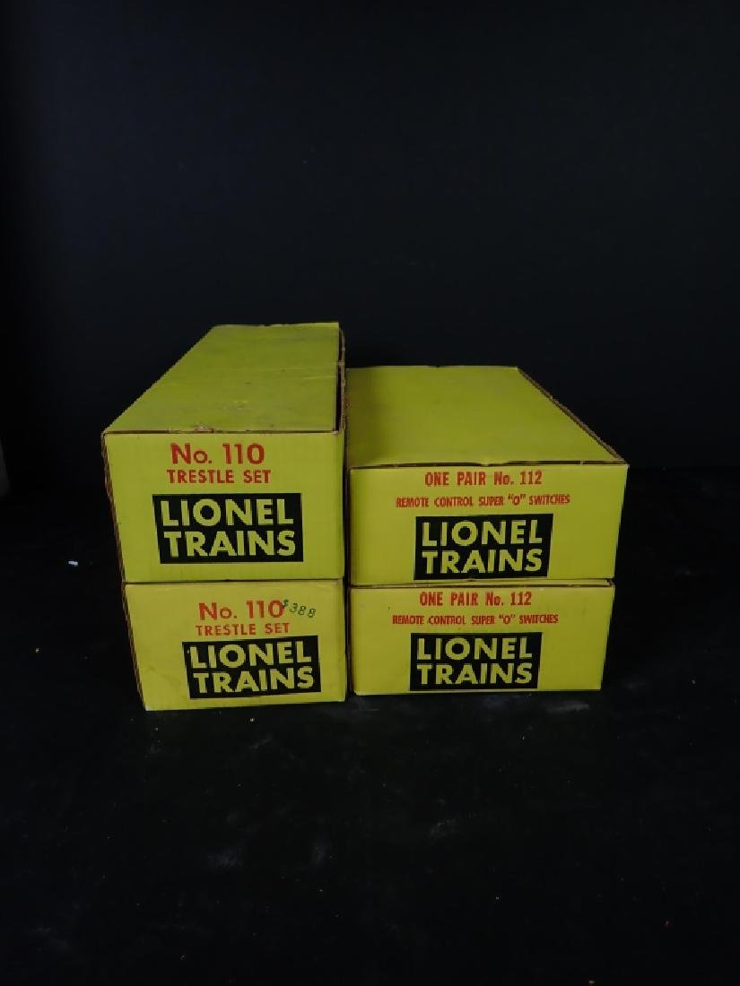 Lionel No. 110 Trestle Sets & No. 112 Switches