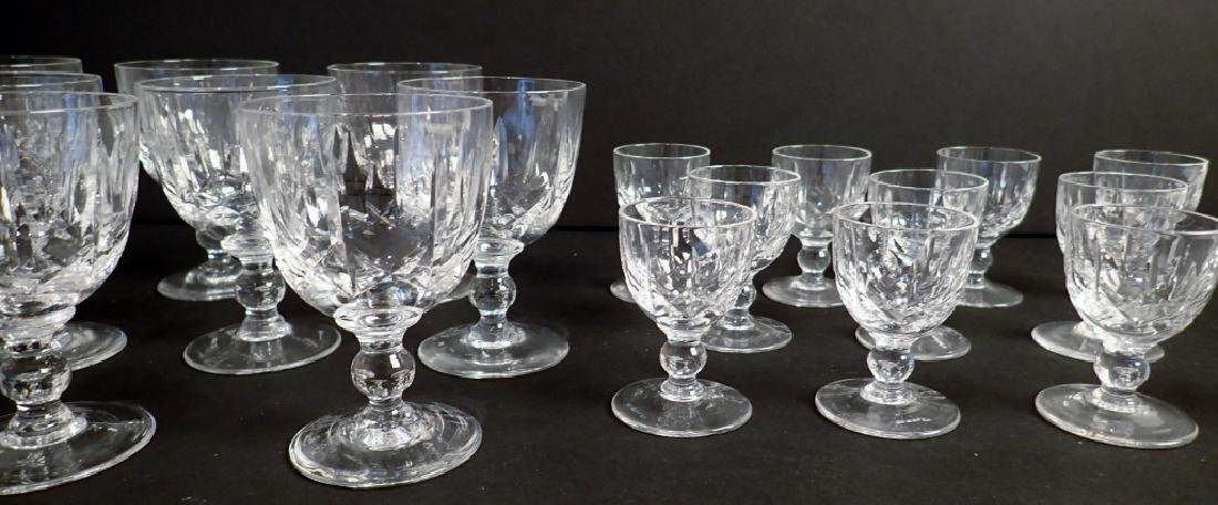 Wine & Cordial Glasses by Royal Brierley, 21 pcs