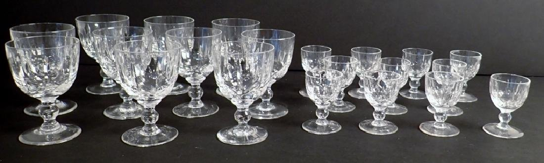 Wine & Cordial Glasses by Royal Brierley, 21 pcs - 3