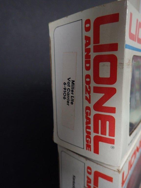 3 Lionel Boxcars, Miller, KFC & Domino Sugar - 5