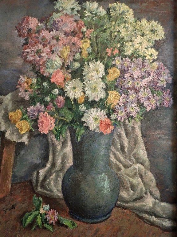 19th Century Still Life Oil Painting, Flowers - 3