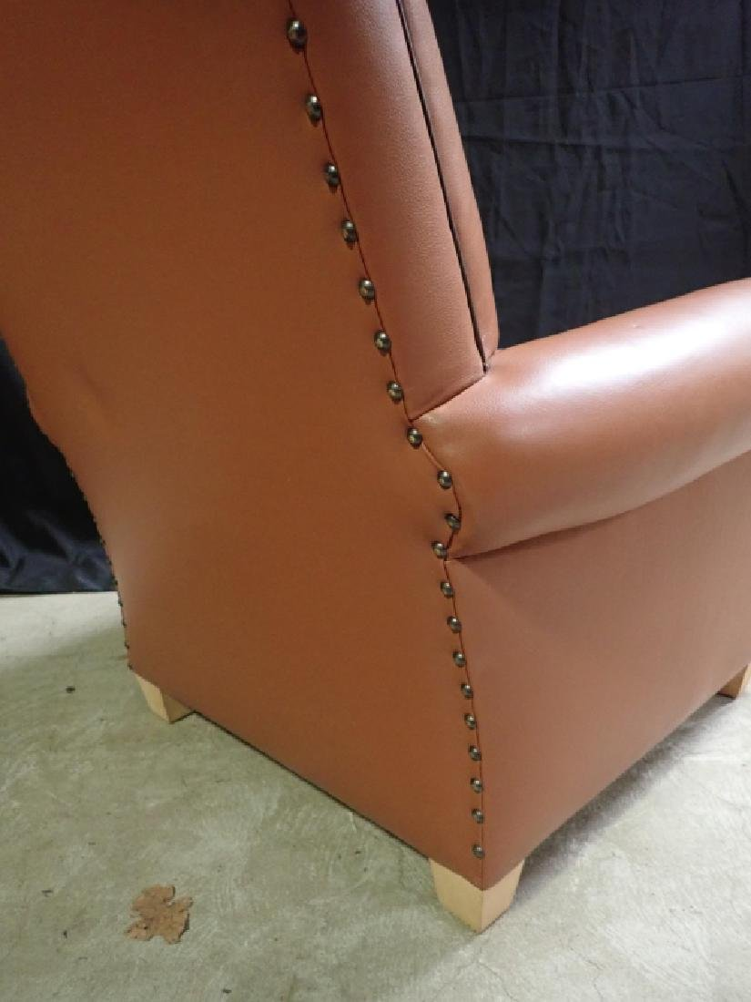 Vintage Leather Arm Lounge Chair - 10