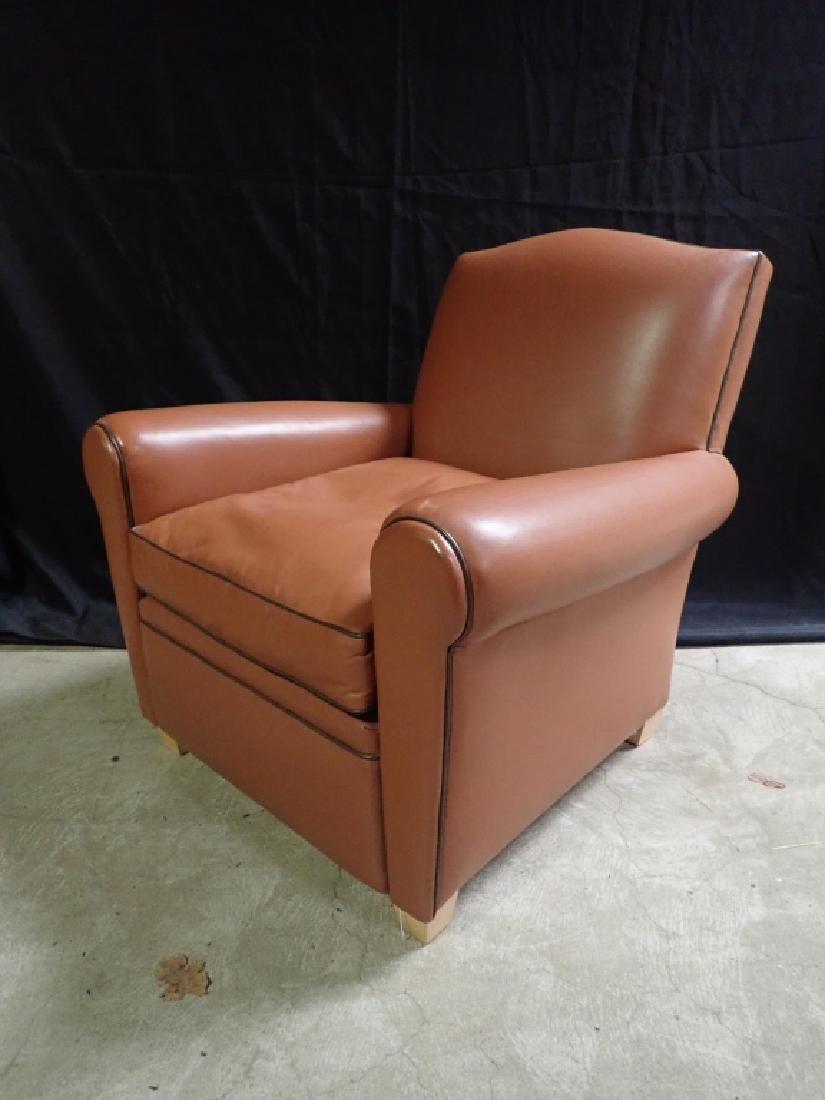 Vintage Leather Arm Lounge Chair - 2