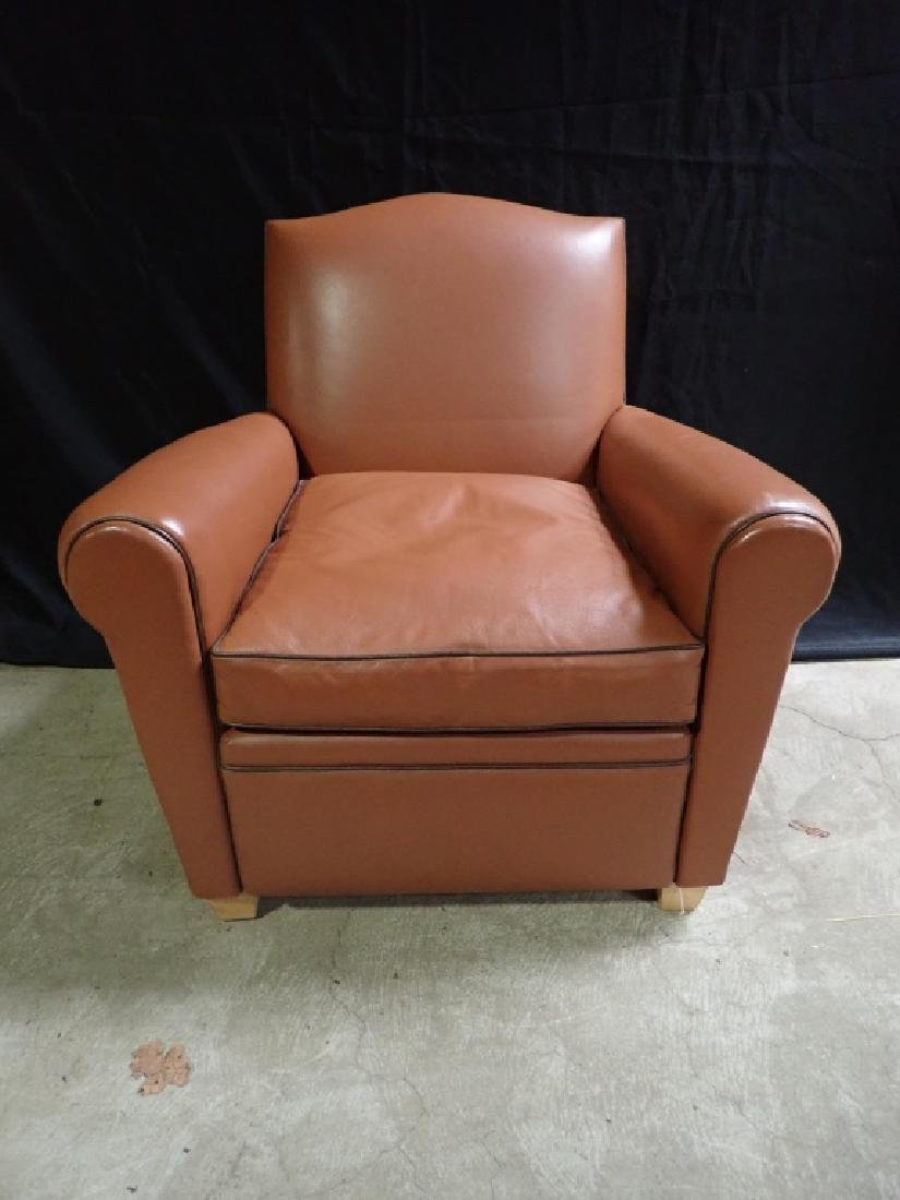Vintage Leather Arm Lounge Chair - 3