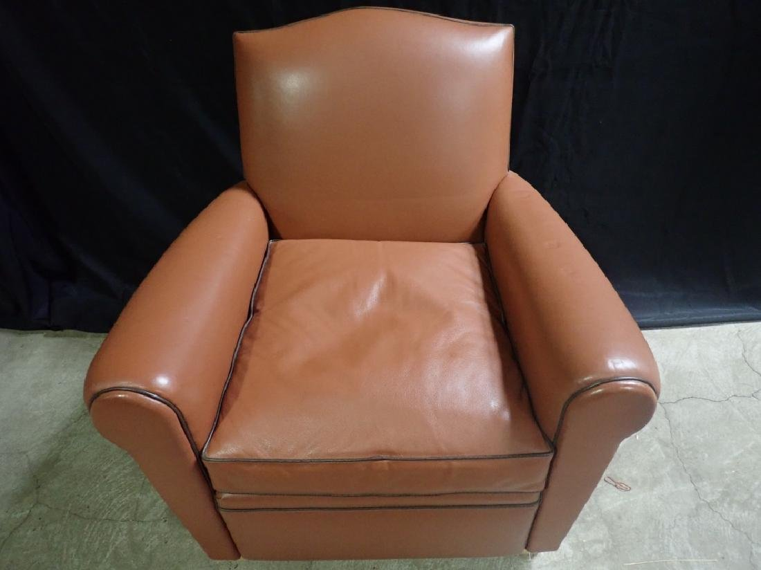 Vintage Leather Arm Lounge Chair - 4