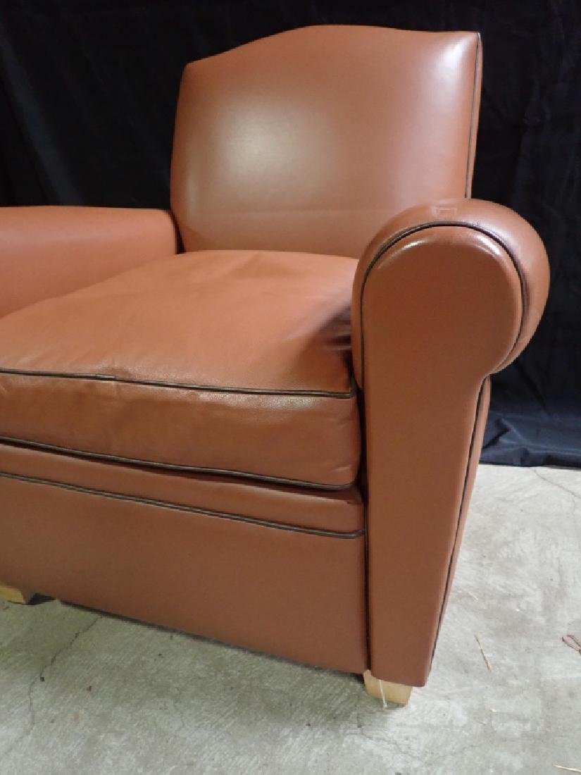 Vintage Leather Arm Lounge Chair - 5