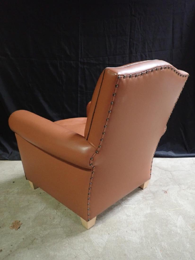 Vintage Leather Arm Lounge Chair - 6