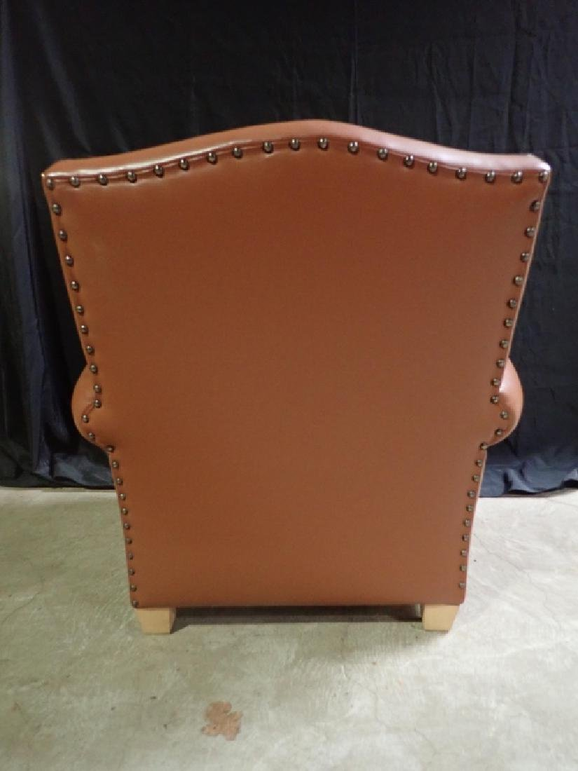 Vintage Leather Arm Lounge Chair - 7