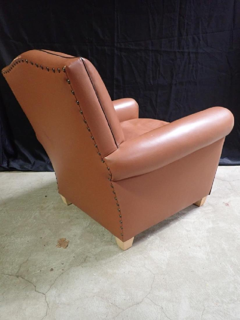 Vintage Leather Arm Lounge Chair - 8