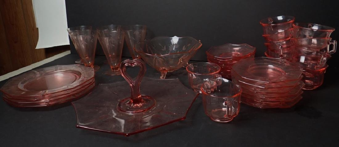 Assorted Cranberry Depression Glass Servingware - 3
