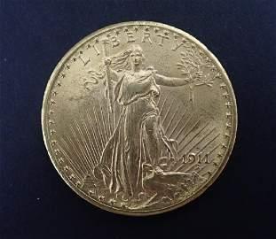 1911 D Saint-Gaudens Double Eagle $20 Gold Coin