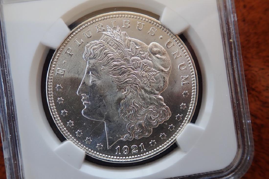 1921 Morgan Silver Dollar - 3
