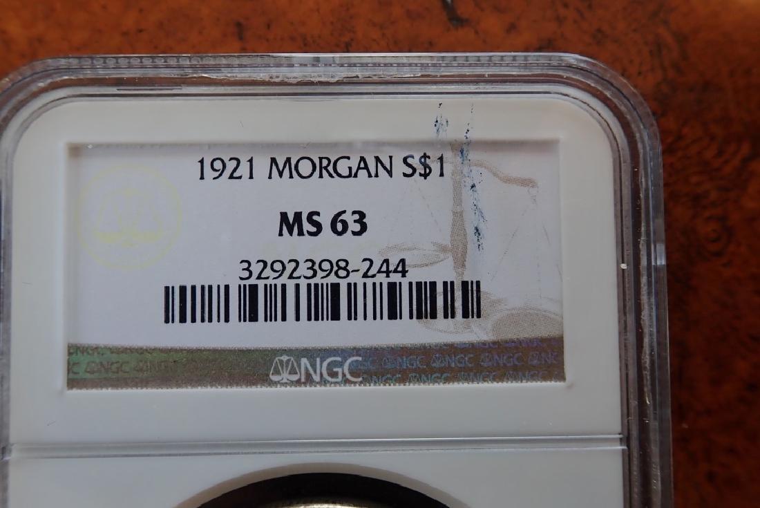 1921 Morgan Silver Dollar - 7