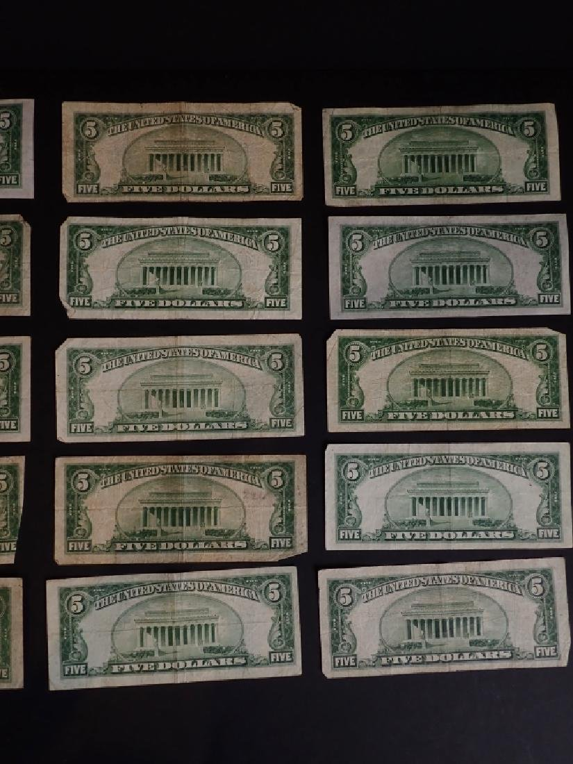 Collection of 20 Five Dollar Bills - 6