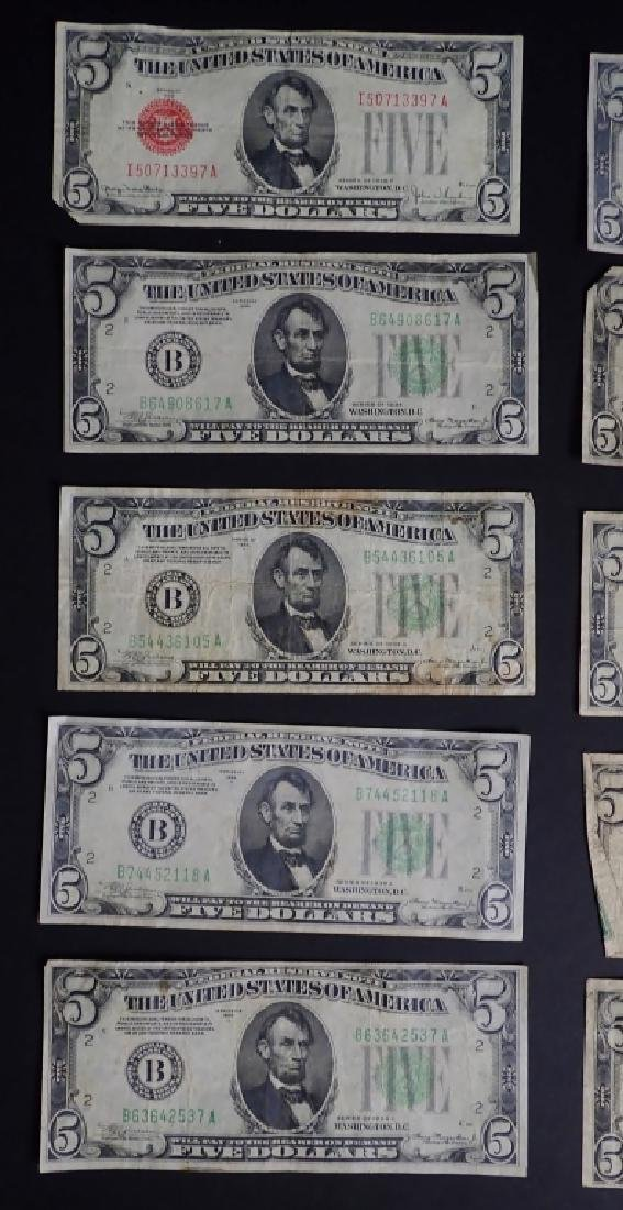 Collection of 20 Five Dollar Bills - 7