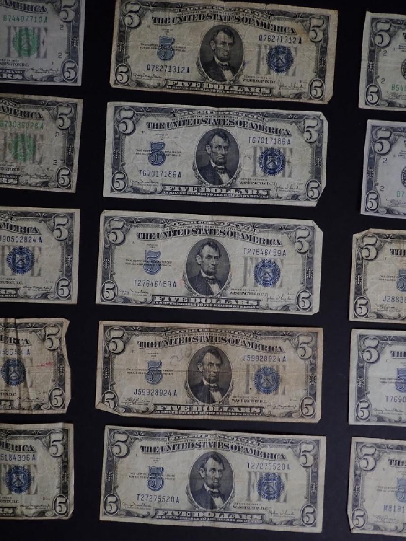 Collection of 20 Five Dollar Bills - 9