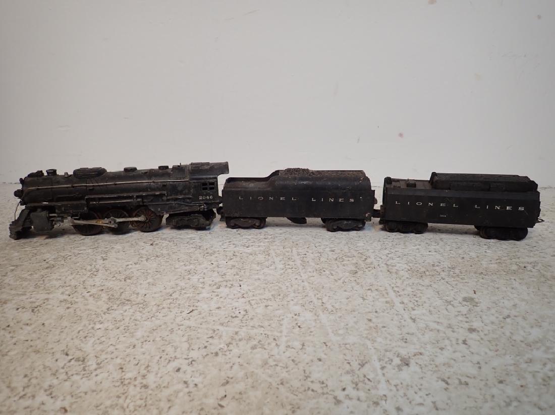 Lionel No. 2046 Engine and 2 Lionel Traincars
