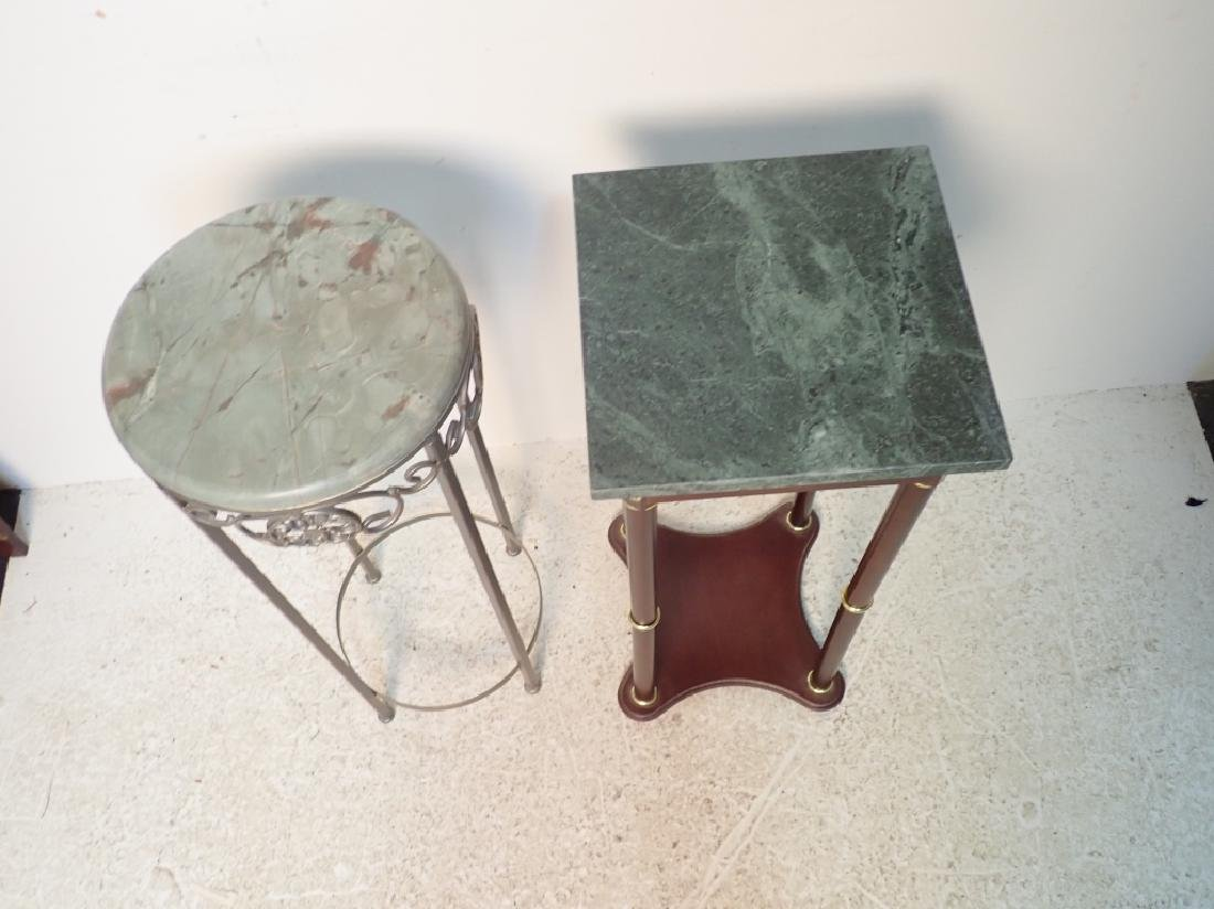 Two Marble Top Pedestals / Plant Stands - 3