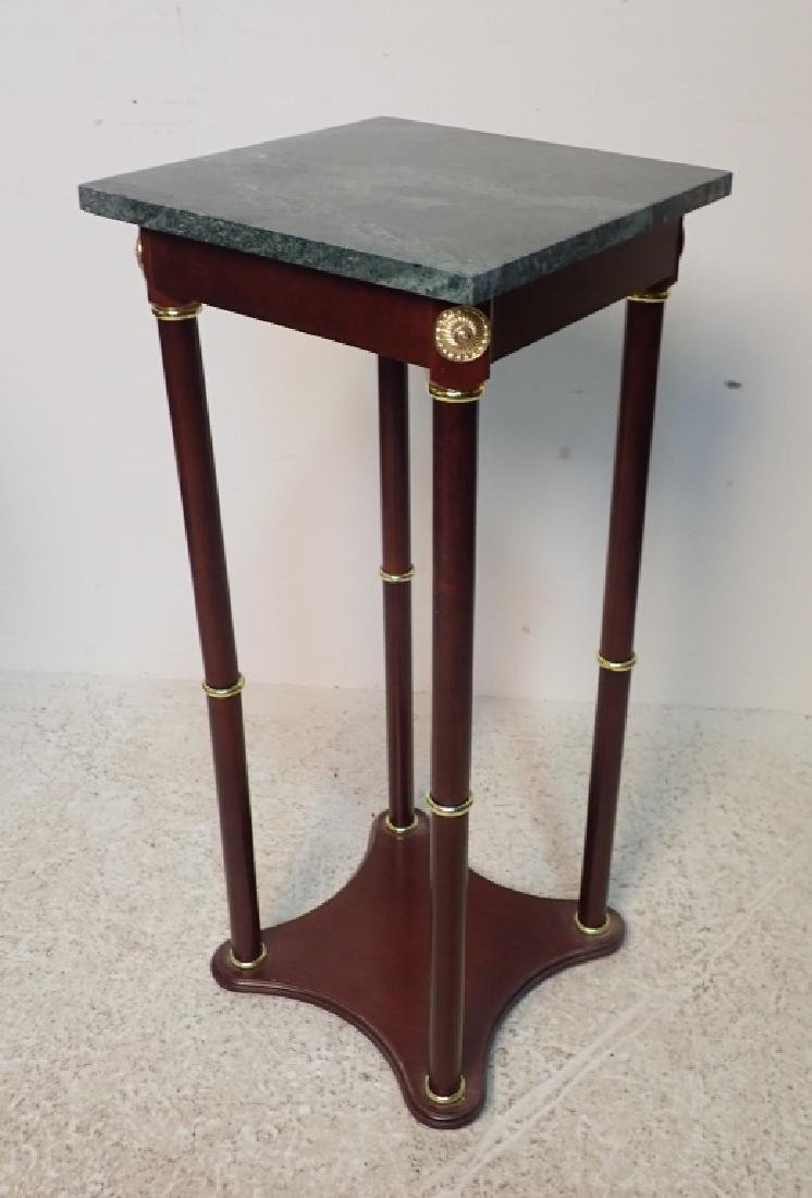 Two Marble Top Pedestals / Plant Stands - 4