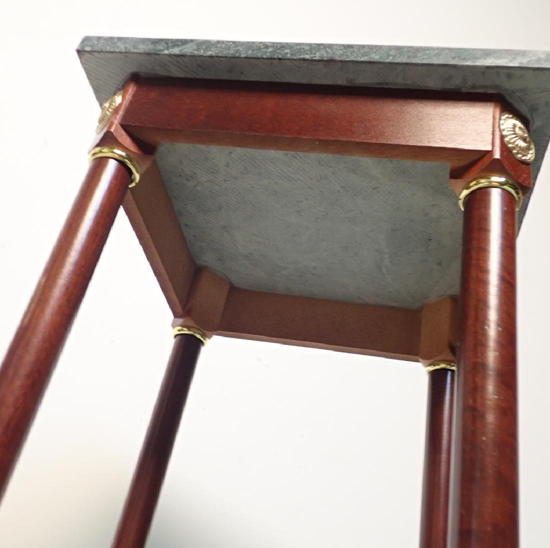 Two Marble Top Pedestals / Plant Stands - 6