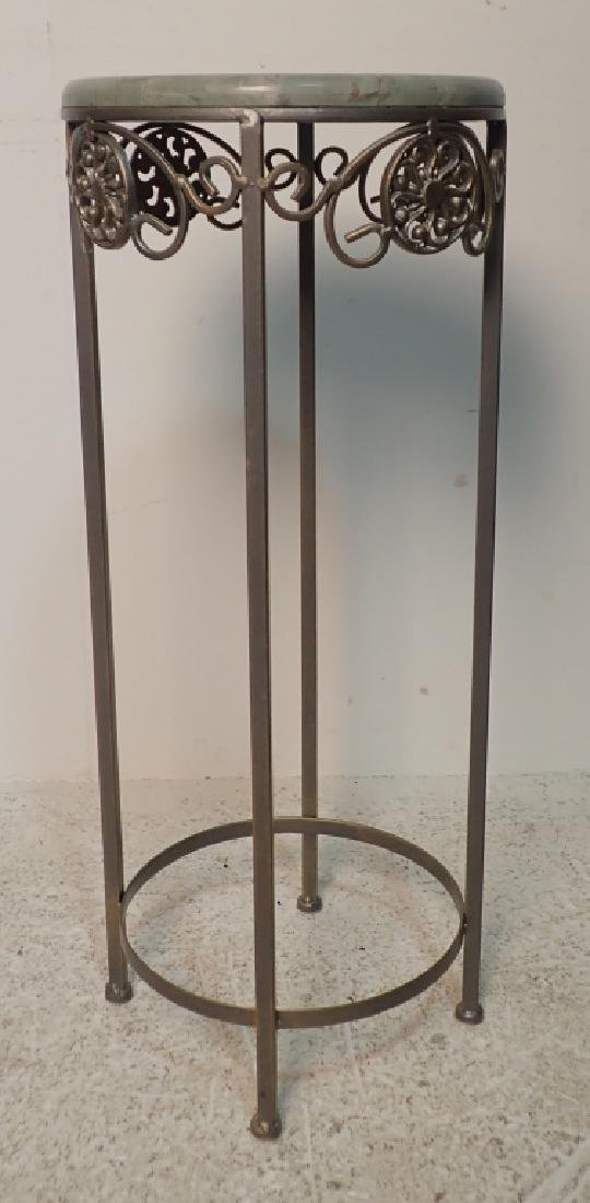 Two Marble Top Pedestals / Plant Stands - 9