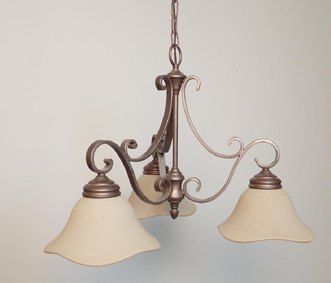 3-Light Hanging Chandelier - 2