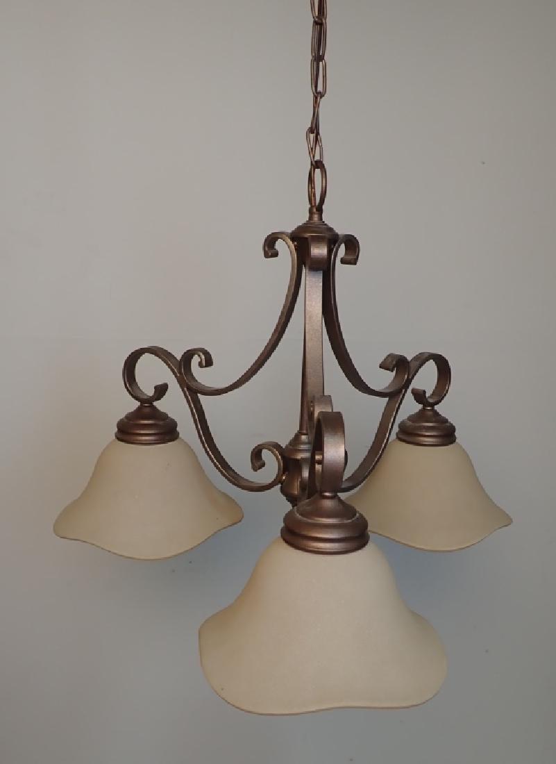 3-Light Hanging Chandelier - 3