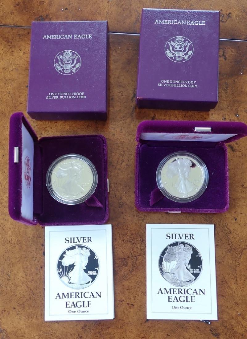 1990 & 1991 Silver American Eagle $1 Coins