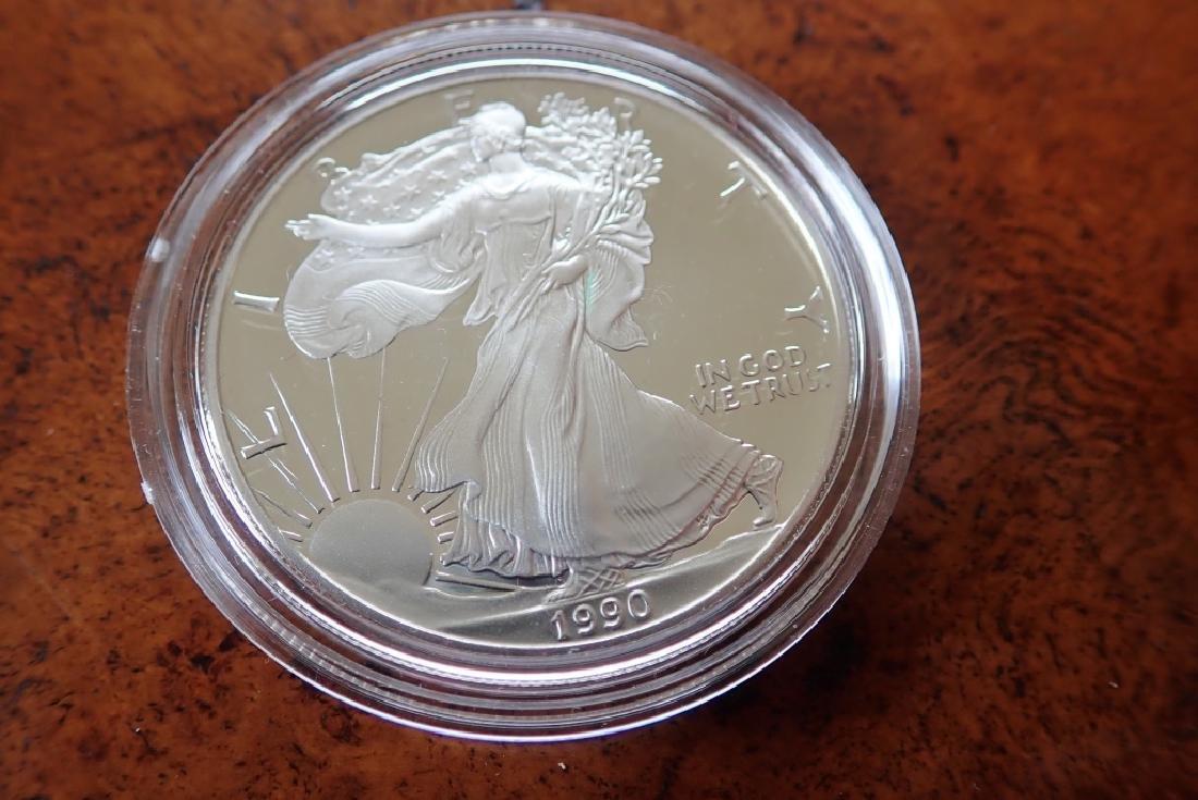 1990 & 1991 Silver American Eagle $1 Coins - 4