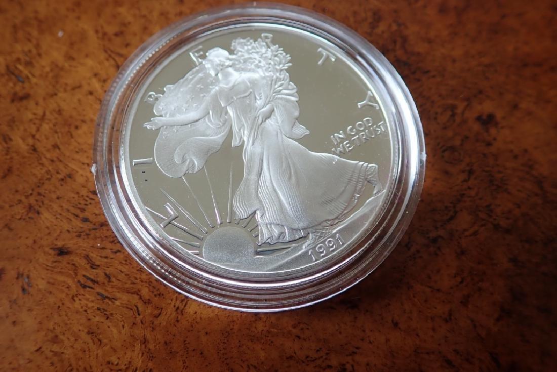 1990 & 1991 Silver American Eagle $1 Coins - 8