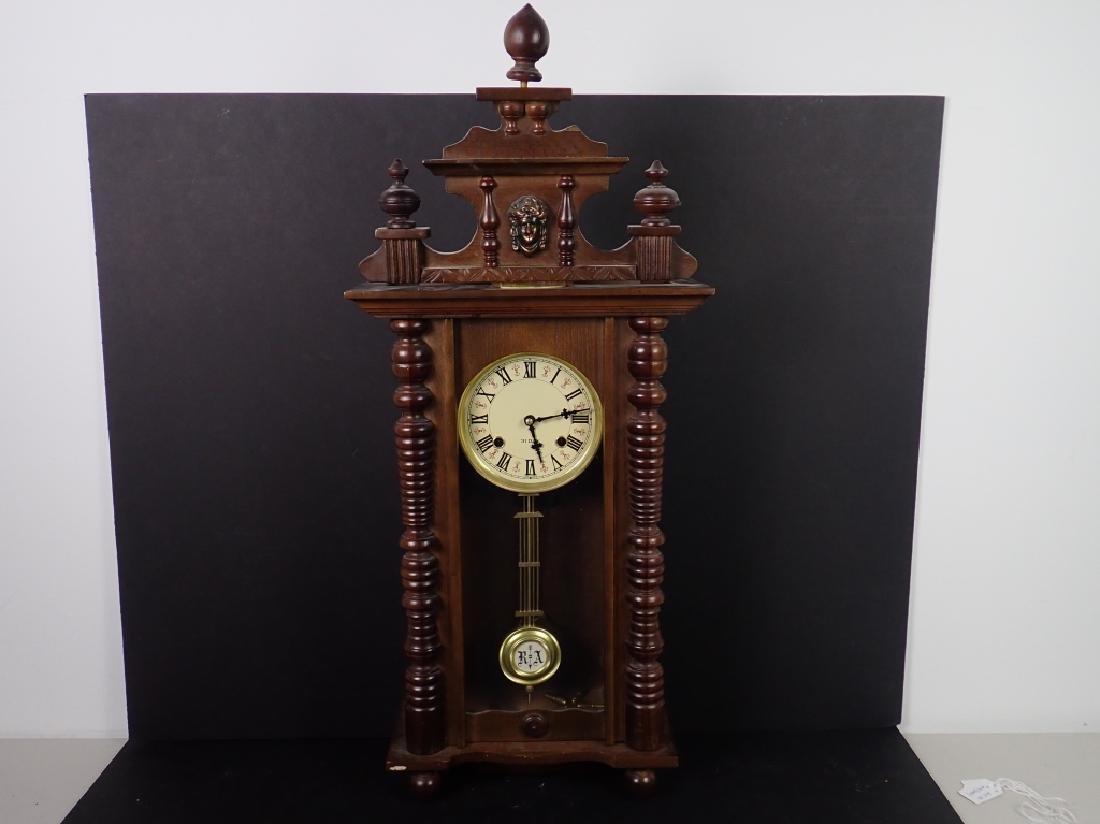 Vintage Wooden RA 31 Day Pendulum Clock