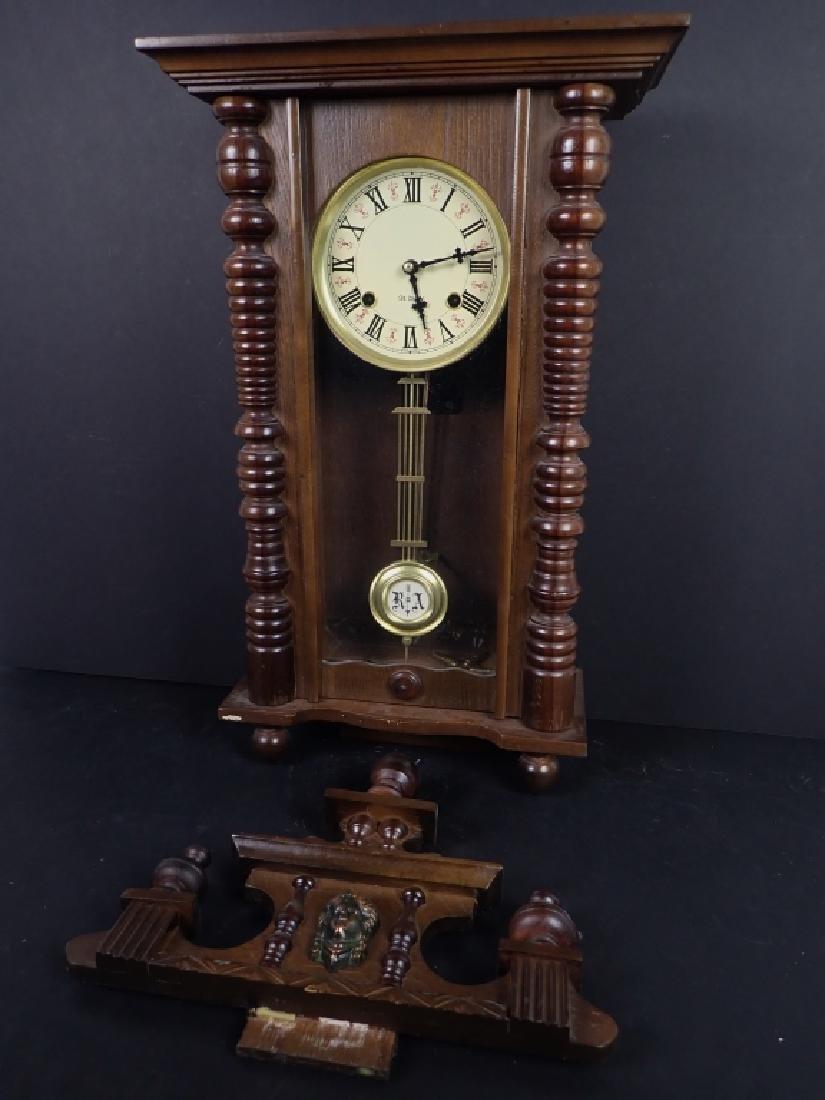 Vintage Wooden RA 31 Day Pendulum Clock - 2