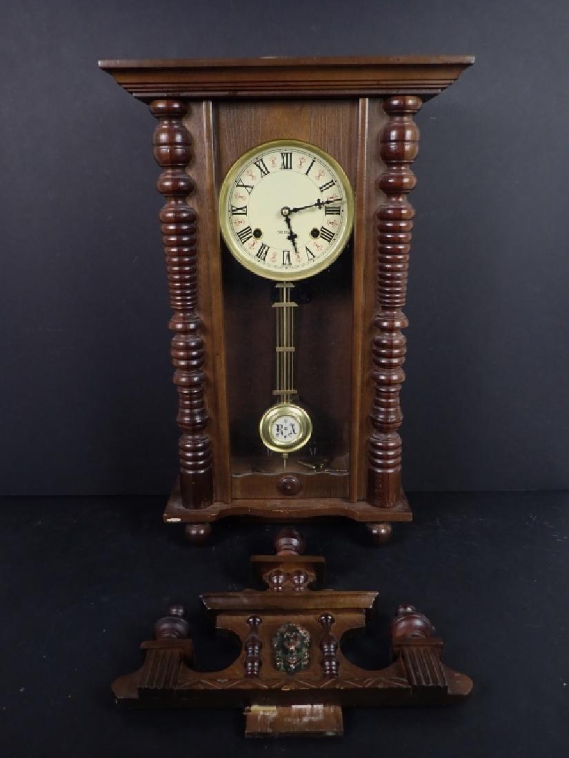 Vintage Wooden RA 31 Day Pendulum Clock - 3