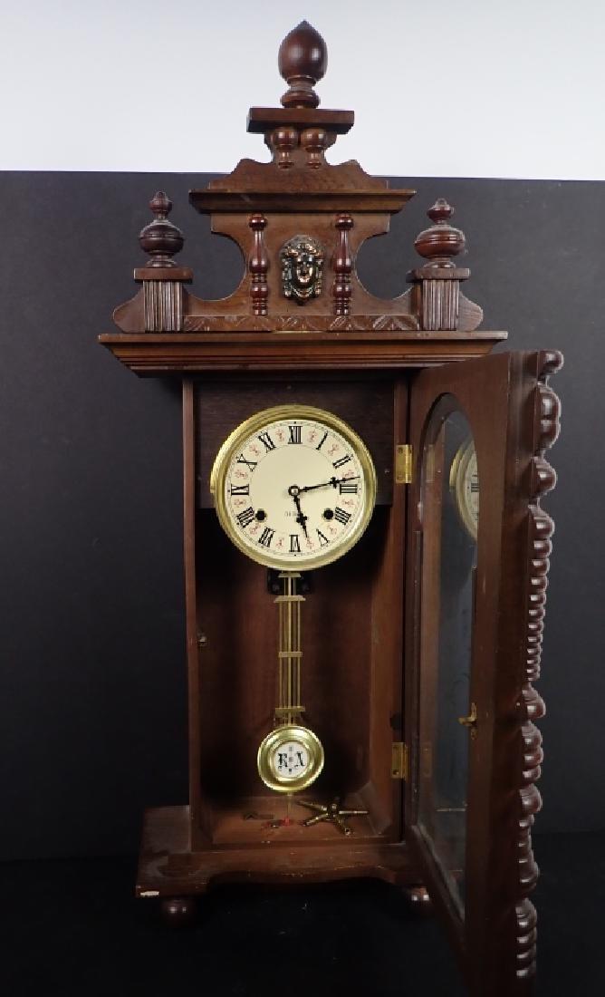 Vintage Wooden RA 31 Day Pendulum Clock - 6