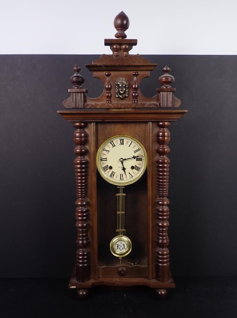 Vintage Wooden RA 31 Day Pendulum Clock - 8