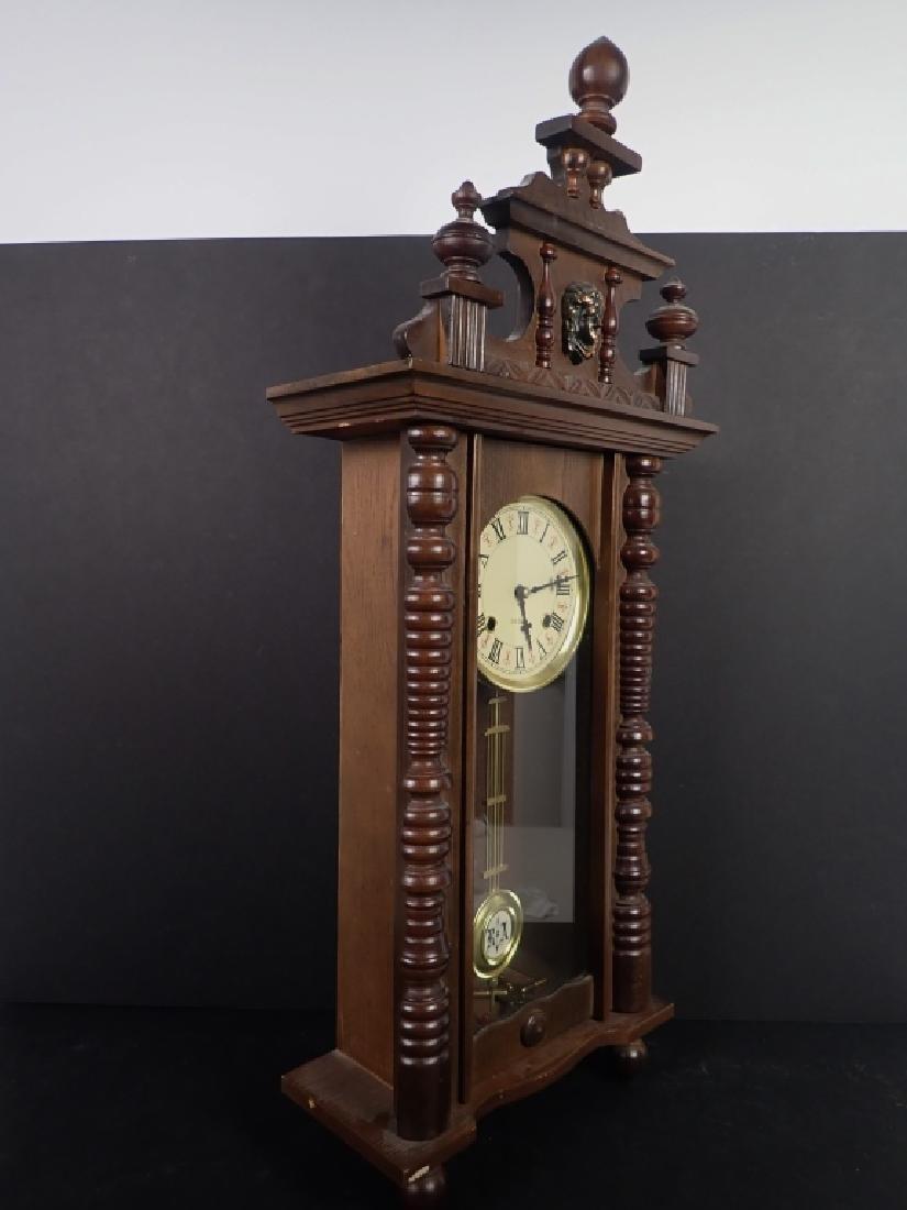 Vintage Wooden RA 31 Day Pendulum Clock - 9