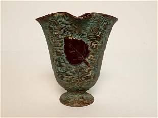 Ceramic Vase with Faux Verdigris / Bronze Finish