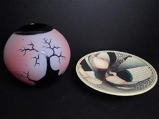 2 Signed Art Pottery Pieces