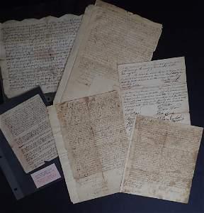 Antique (1700's) New Jersey Indentures