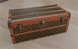 "Louis Vuitton ""Malle Fleurs"" Miniature Trunk"